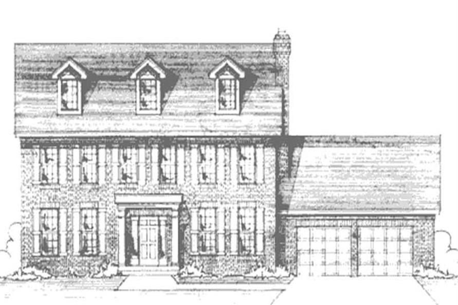 Home Plan Front Elevation of this 4-Bedroom,2548 Sq Ft Plan -146-2292