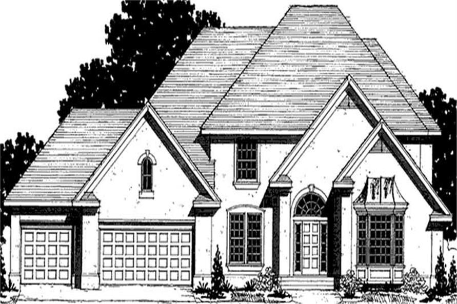 4-Bedroom, 2697 Sq Ft European Home Plan - 146-2294 - Main Exterior