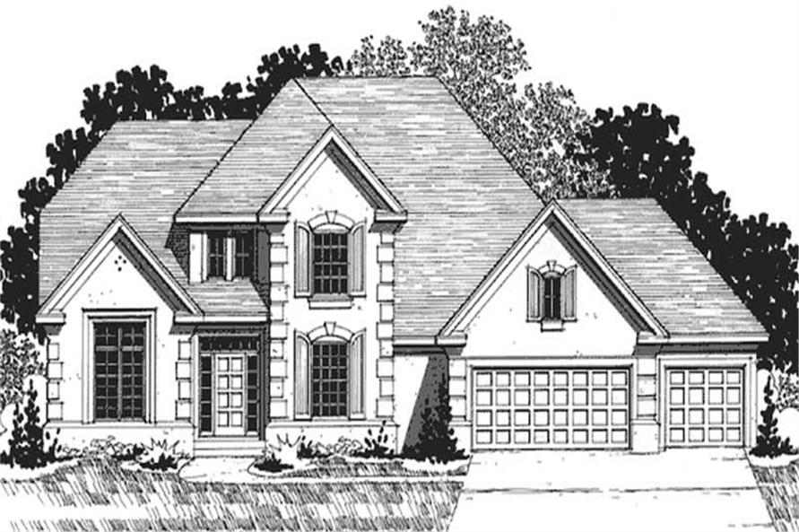 4-Bedroom, 2660 Sq Ft European House Plan - 146-2296 - Front Exterior