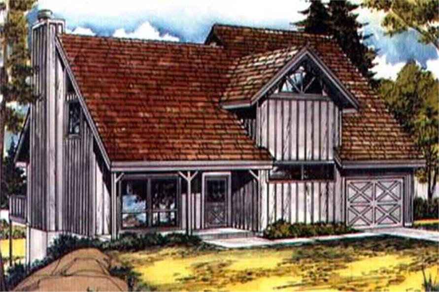 2-Bedroom, 1312 Sq Ft Small House Plans - 146-2297 - Main Exterior