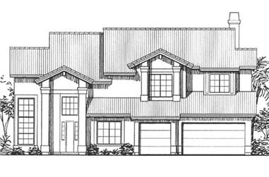 4-Bedroom, 3071 Sq Ft Florida Style House Plan - 146-2298 - Front Exterior