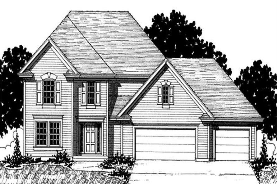 4-Bedroom, 2084 Sq Ft European Home Plan - 146-2302 - Main Exterior