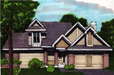 3-Bedroom, 2130 Sq Ft Cape Cod Home Plan - 146-2303 - Main Exterior