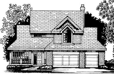3-Bedroom, 2287 Sq Ft Country Home Plan - 146-2309 - Main Exterior