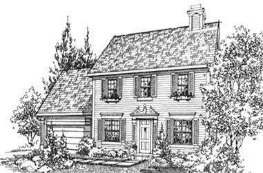 4-Bedroom, 1821 Sq Ft Georgian Home Plan - 146-2315 - Main Exterior