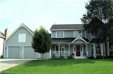 4-Bedroom, 2265 Sq Ft Country House Plan - 146-2317 - Front Exterior