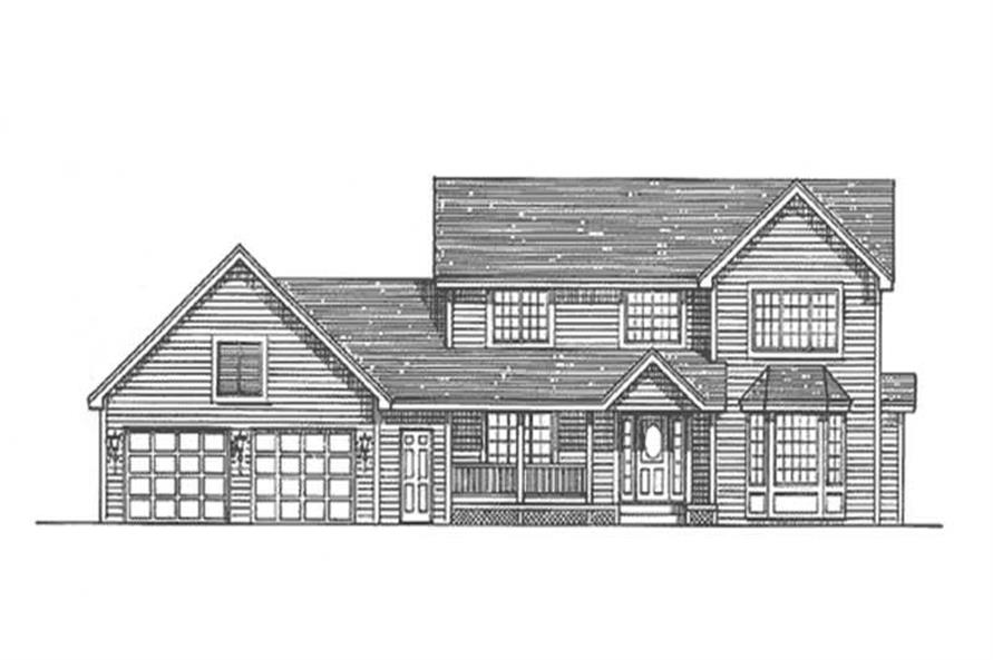 Home Plan Front Elevation of this 4-Bedroom,2265 Sq Ft Plan -146-2317