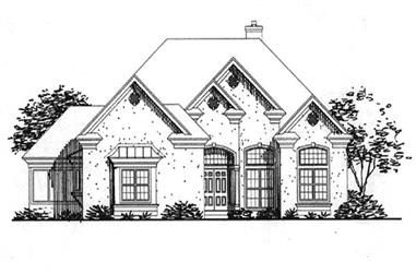 3-Bedroom, 3958 Sq Ft Colonial Home Plan - 146-2319 - Main Exterior
