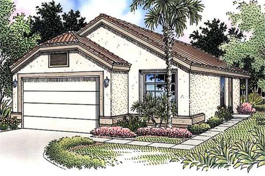 2-Bedroom, 1298 Sq Ft Florida Style Home Plan - 146-2320 - Main Exterior