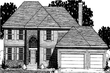 3-Bedroom, 2660 Sq Ft Colonial Home Plan - 146-2322 - Main Exterior