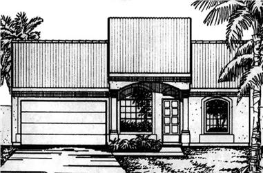3-Bedroom, 1429 Sq Ft Florida Style House Plan - 146-2324 - Front Exterior