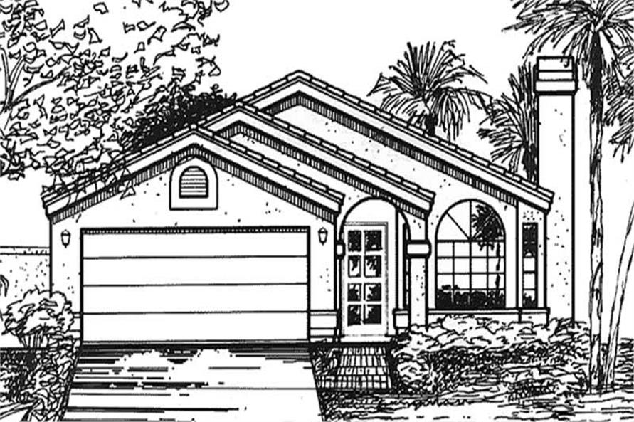 2-Bedroom, 1322 Sq Ft Florida Style House Plan - 146-2326 - Front Exterior
