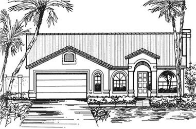 4-Bedroom, 1967 Sq Ft Florida Style Home Plan - 146-2328 - Main Exterior