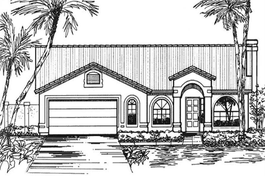 Main image for house plan # 20734