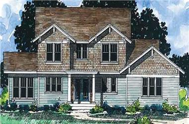 3-Bedroom, 2136 Sq Ft Country House Plan - 146-2329 - Front Exterior