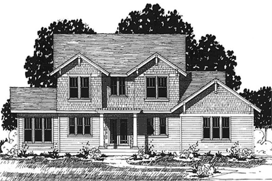 Home Plan Front Elevation of this 3-Bedroom,2136 Sq Ft Plan -146-2329