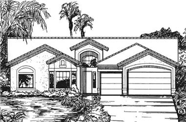 4-Bedroom, 2336 Sq Ft Florida Style Home Plan - 146-2330 - Main Exterior