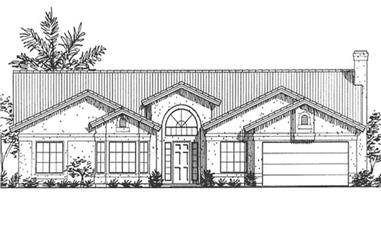 3-Bedroom, 2583 Sq Ft Florida Style Home Plan - 146-2332 - Main Exterior