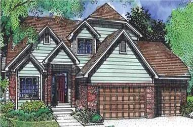 3-Bedroom, 2406 Sq Ft Traditional House Plan - 146-2333 - Front Exterior