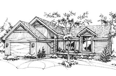 2-Bedroom, 1436 Sq Ft Ranch House Plan - 146-2335 - Front Exterior