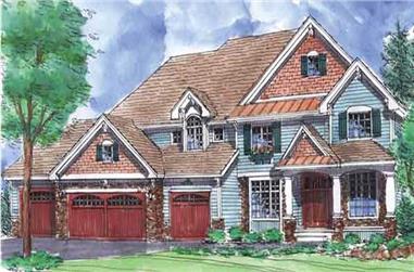 4-Bedroom, 3658 Sq Ft Craftsman House Plan - 146-2337 - Front Exterior