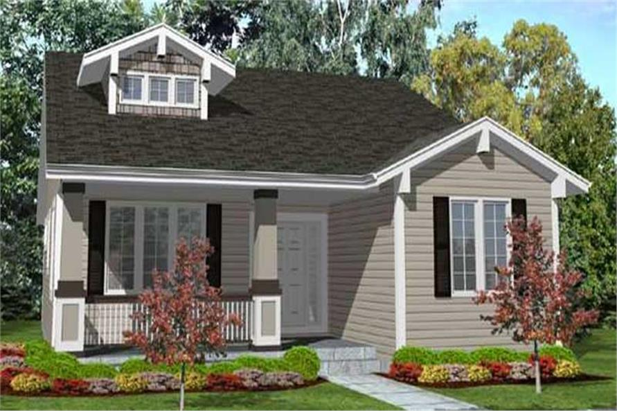 3-Bedroom, 1800 Sq Ft Bungalow House Plan - 146-2341 - Front Exterior