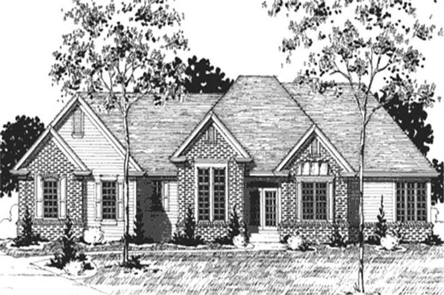 Home Plan Front Elevation of this 1-Bedroom,2200 Sq Ft Plan -146-2342