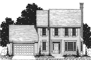 4-Bedroom, 2618 Sq Ft Colonial Home Plan - 146-2343 - Main Exterior