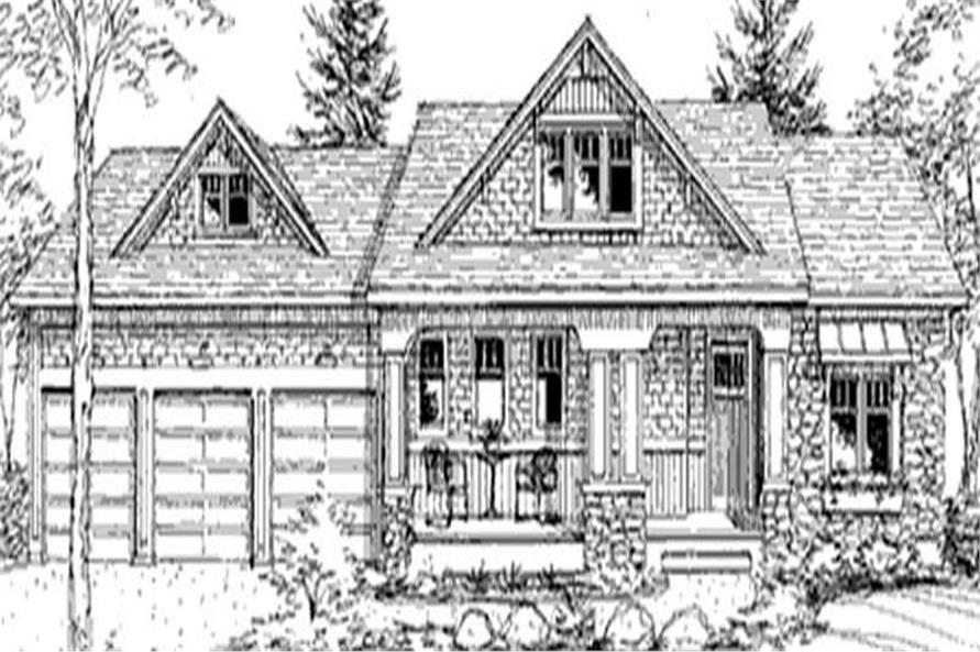 Front Rendering of this 3-Bedroom,2637 Sq Ft Plan -2637