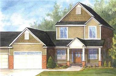 3-Bedroom, 2144 Sq Ft Country House Plan - 146-2351 - Front Exterior