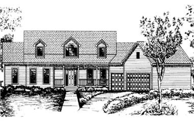 2-Bedroom, 2055 Sq Ft Country House Plan - 146-2354 - Front Exterior