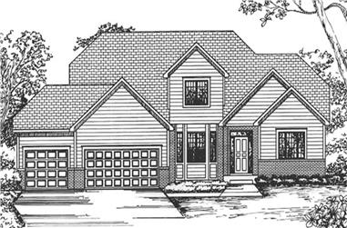 4-Bedroom, 2410 Sq Ft Cape Cod House Plan - 146-2362 - Front Exterior