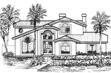 4-Bedroom, 3380 Sq Ft Florida Style Home Plan - 146-2363 - Main Exterior