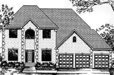 3-Bedroom, 2771 Sq Ft European Home Plan - 146-2368 - Main Exterior