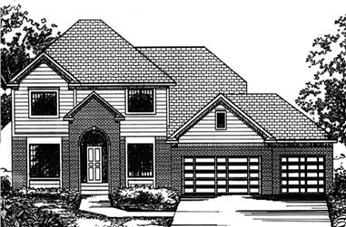 4-Bedroom, 2802 Sq Ft Colonial Home Plan - 146-2369 - Main Exterior