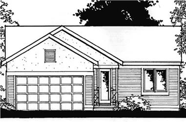 2-Bedroom, 1068 Sq Ft Ranch House Plan - 146-2372 - Front Exterior