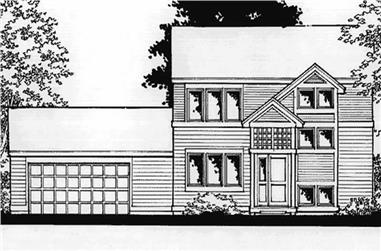 2-Bedroom, 1424 Sq Ft Small House Plans - 146-2373 - Front Exterior