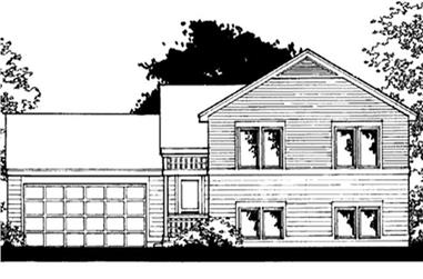 3-Bedroom, 1173 Sq Ft Ranch House Plan - 146-2374 - Front Exterior