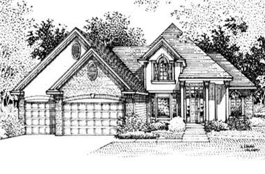 3-Bedroom, 2029 Sq Ft Cape Cod Home Plan - 146-2376 - Main Exterior