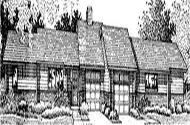 2-Bedroom, 1156 Sq Ft Multi-Unit Home Plan - 146-2378 - Main Exterior