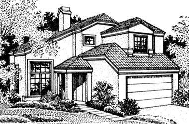 2-Bedroom, 1955 Sq Ft Southwest House Plan - 146-2380 - Front Exterior