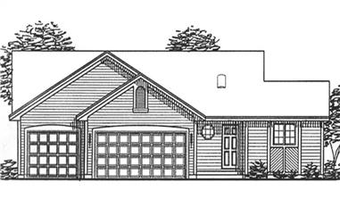 2-Bedroom, 1174 Sq Ft Ranch House Plan - 146-2381 - Front Exterior