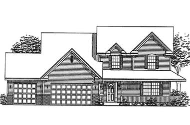 4-Bedroom, 3354 Sq Ft Country House Plan - 146-2382 - Front Exterior
