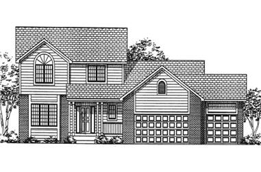 3-Bedroom, 2252 Sq Ft Country House Plan - 146-2384 - Front Exterior
