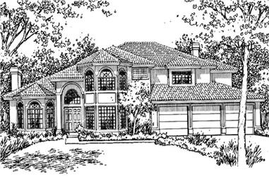 3-Bedroom, 3070 Sq Ft Florida Style House Plan - 146-2385 - Front Exterior