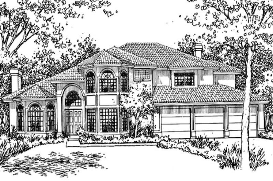 Main image for house plan # 20738