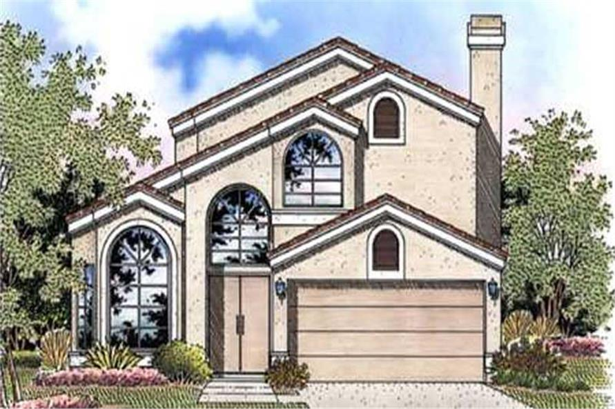 3-Bedroom, 2212 Sq Ft Florida Style House Plan - 146-2386 - Front Exterior