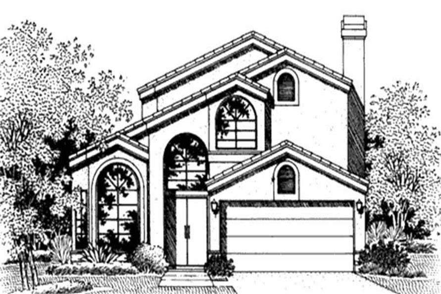 Home Plan Front Elevation of this 3-Bedroom,2212 Sq Ft Plan -146-2386