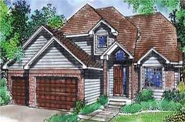 3-Bedroom, 2164 Sq Ft Cape Cod House Plan - 146-2389 - Front Exterior