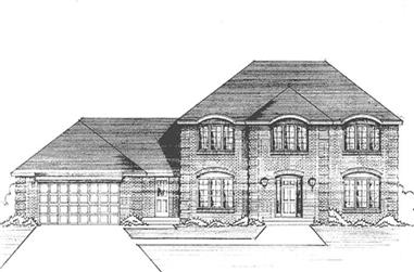 4-Bedroom, 2665 Sq Ft Colonial Home Plan - 146-2392 - Main Exterior